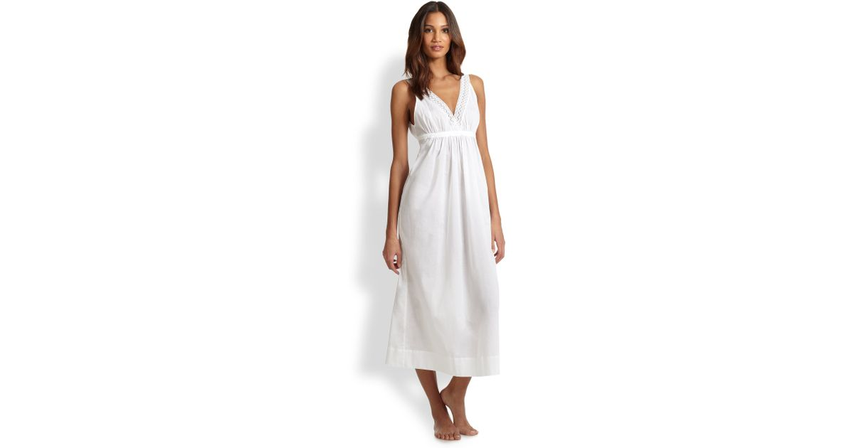 Oscar de la renta Grecian Escape Long Gown in White | Lyst