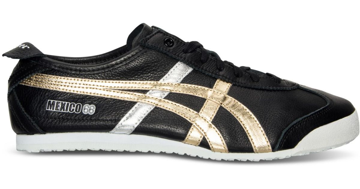 best service 94129 b23ff gold black onitsuka tiger mexico 66 shoes