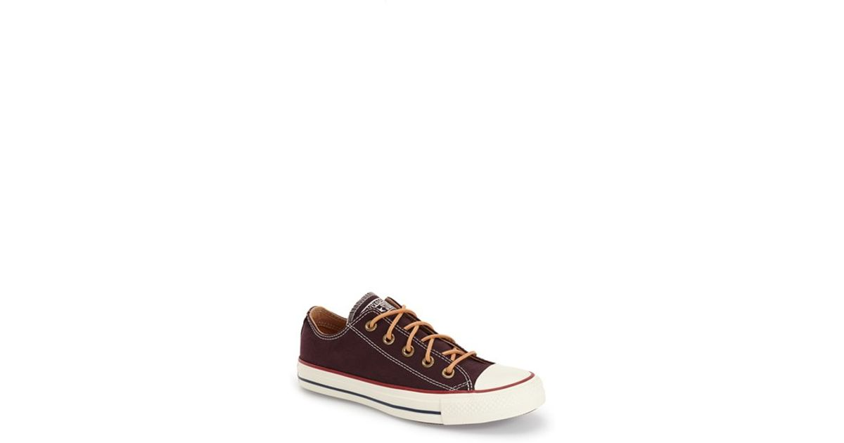 5ea84c4d0de3ef Lyst - Converse Chuck Taylor All Star  peached - Ox  Low Top Sneaker in Red
