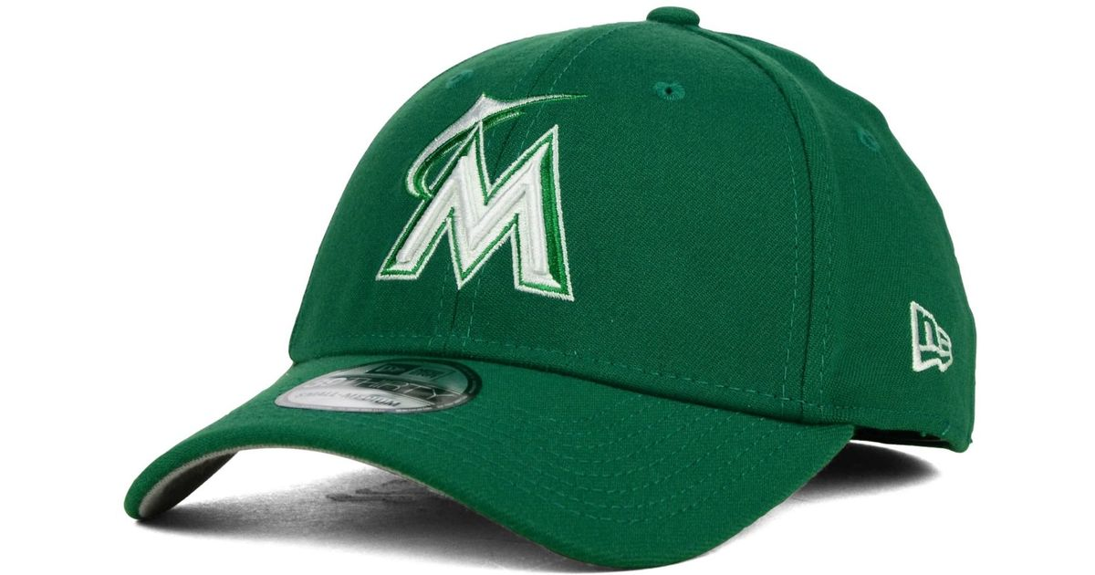 buy popular 4c602 49a7d Lyst - KTZ Miami Marlins St. Patty Classic 39Thirty Cap in Green for Men