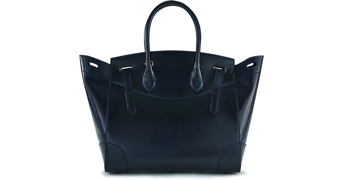 34c7871ced Lyst - Ralph Lauren Patent Leather Soft Ricky Bag in Blue