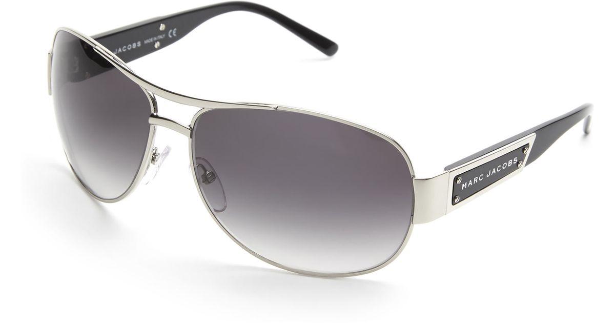ee86ba9c30 Lyst - Marc Jacobs Silver-Tone 125 S Aviator Sunglasses in Metallic for Men