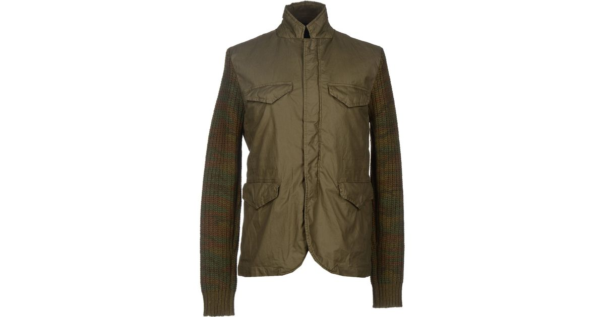 scotch soda jacket in green for men military green. Black Bedroom Furniture Sets. Home Design Ideas