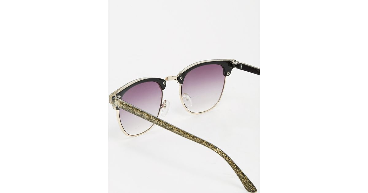 93c3a7b7b73 Lyst - ASOS Clubmaster Sunglasses In Glitter Finish in Green for Men