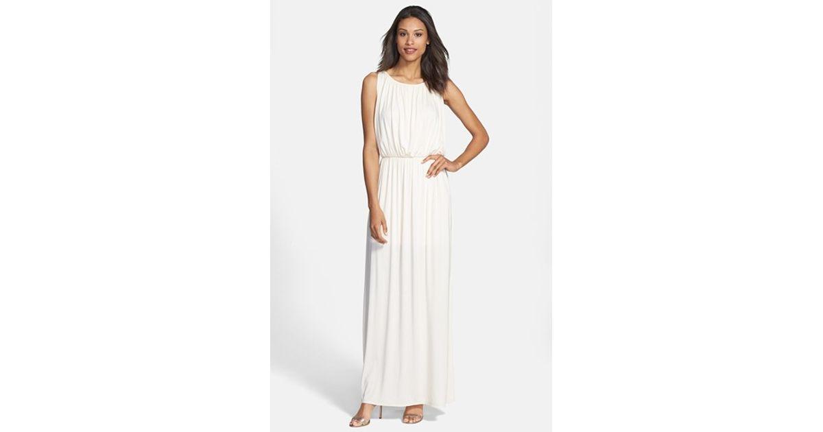 White grecian maxi dress