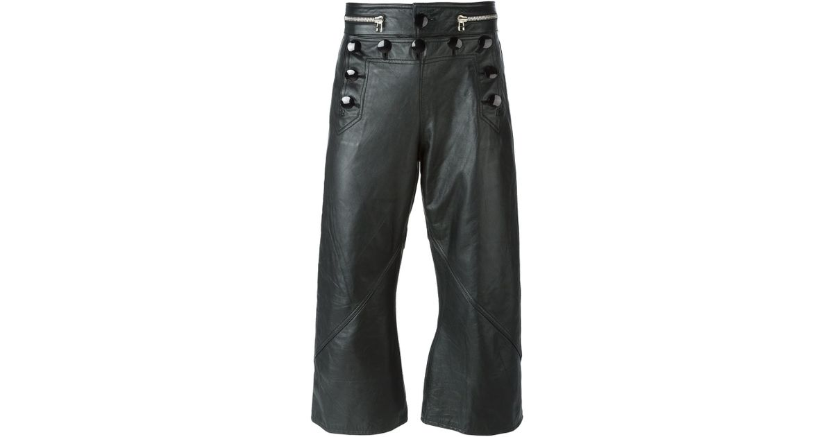 5d3d8ad25526 Lyst - Jean Paul Gaultier Leather Sailor Trousers in Black for Men