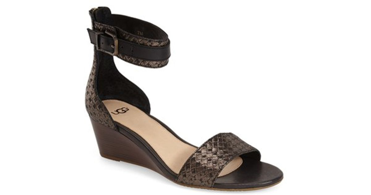 736a73f6088 Ugg Char Leather Wedge Sandals - cheap watches mgc-gas.com