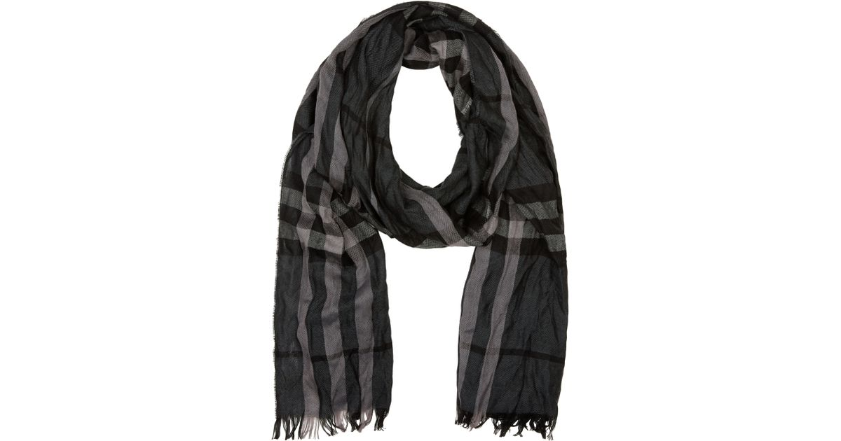 a96bf98c51f inexpensive burberry london crinkled check scarf york d195b 2133b