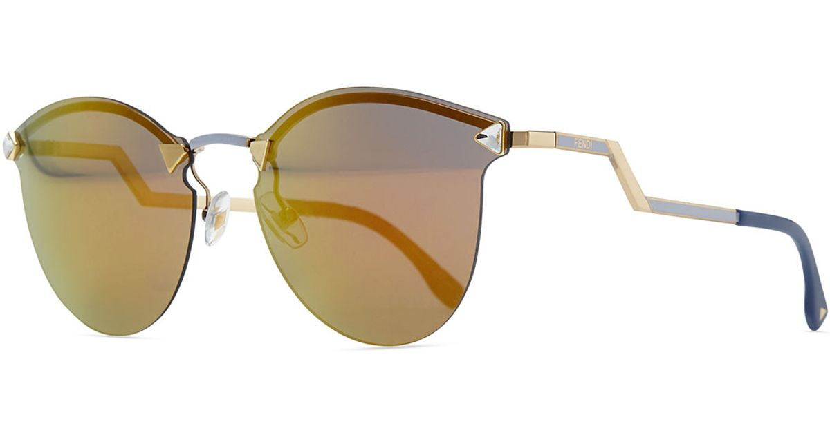 Rimless Glasses With Changeable Arms : Fendi Rimless Sunglasses With Stepped Arms Lyst