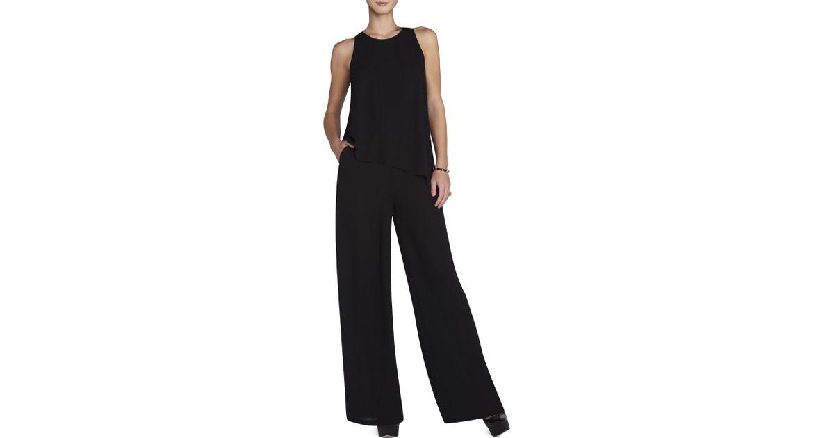 336d6899523 Lyst - BCBGMAXAZRIA Hadli Sleeveless Draped Jumpsuit in Black