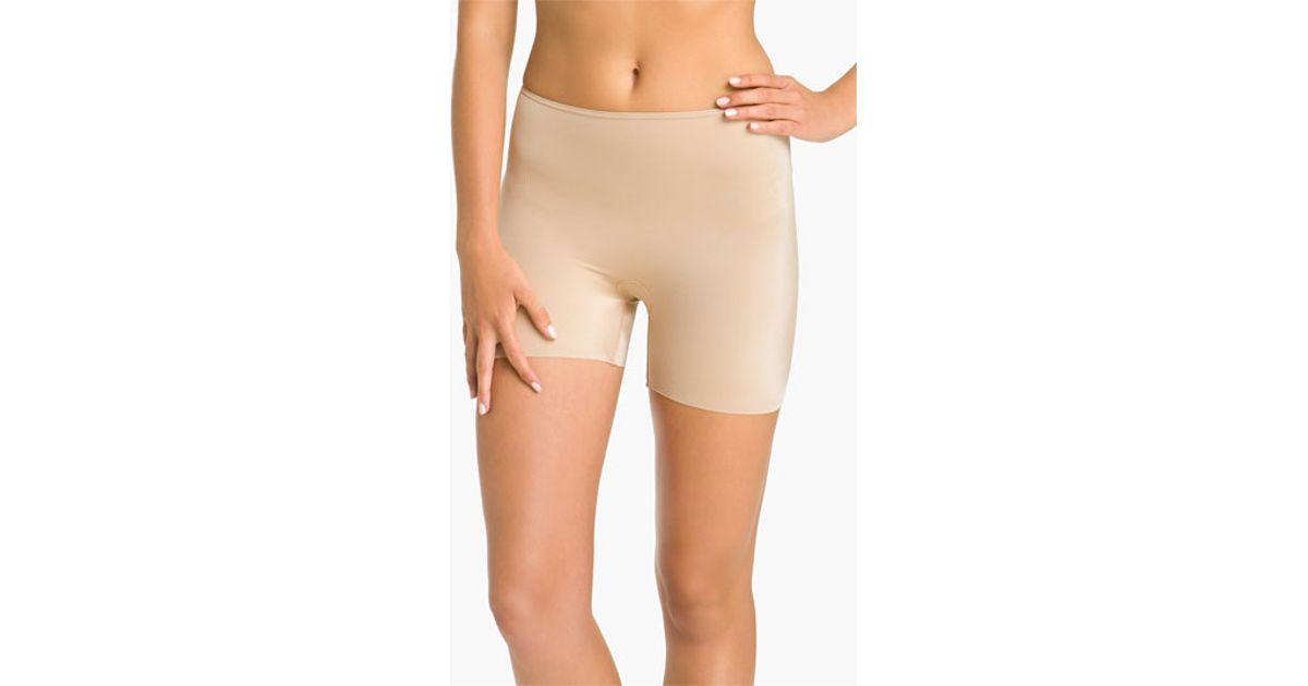 8caf68a6990da Lyst - Spanx  slimplicity  Girl Shaper Shorts in Natural