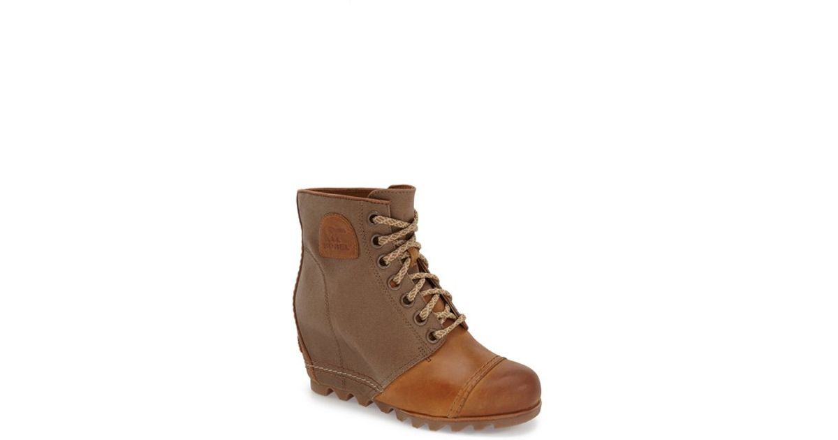 20e57bd74f9 Lyst - Sorel 1964 Premium Canvas Waterproof Wedge Boots in Brown