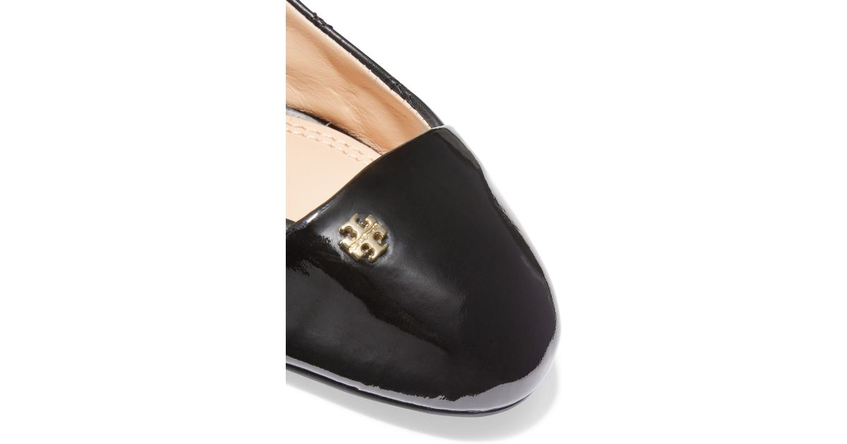 318fd406d439 Tory Burch Claremont Quilted Leather Ballet Flats in Black - Lyst
