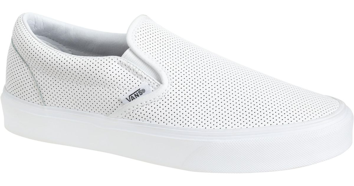 Lyst - J.Crew Vans Classic Slip-on Sneakers In Perforated Leather in White
