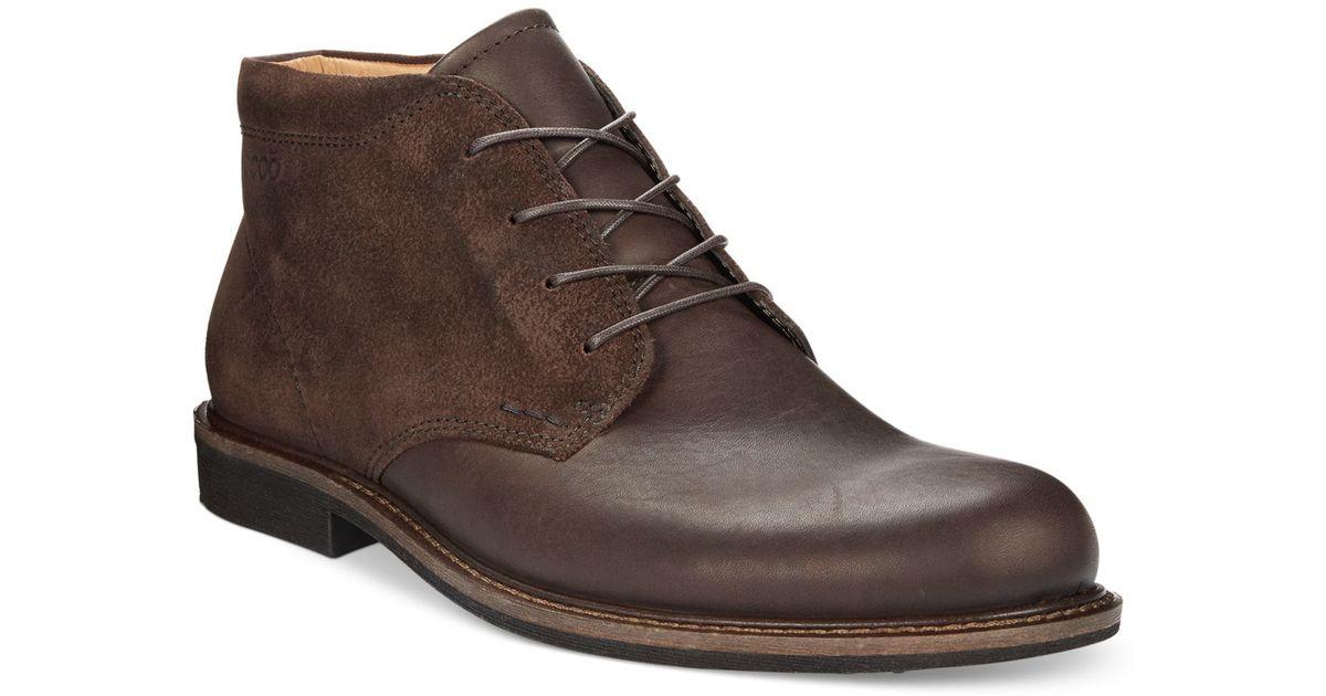66151347817 Ecco Men's Findlay Chukka Boots in Brown for Men - Lyst