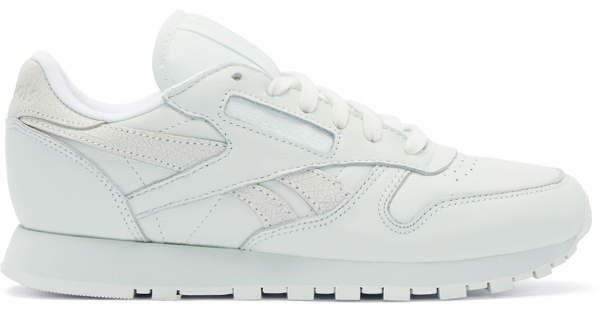 8c4e7d6f543a4 Lyst - Reebok Green Leather Spirit Face Stockholm Edition Sneakers in White