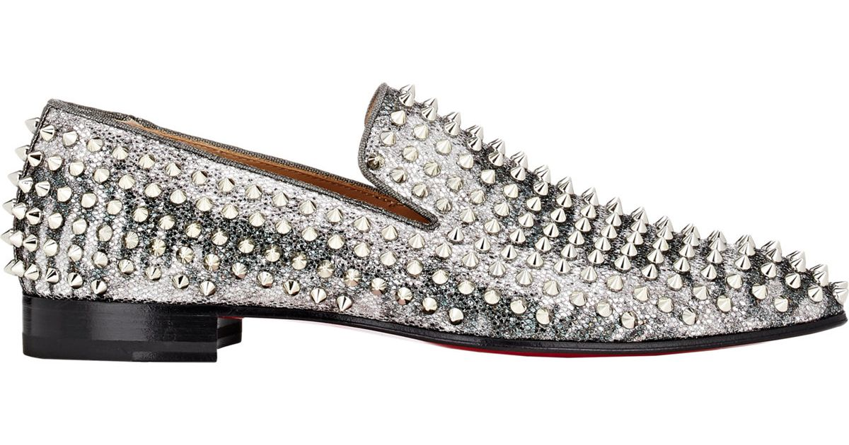 148fb6b2590 Christian Louboutin Spiked Dandelion Loafers in Metallic for Men - Lyst