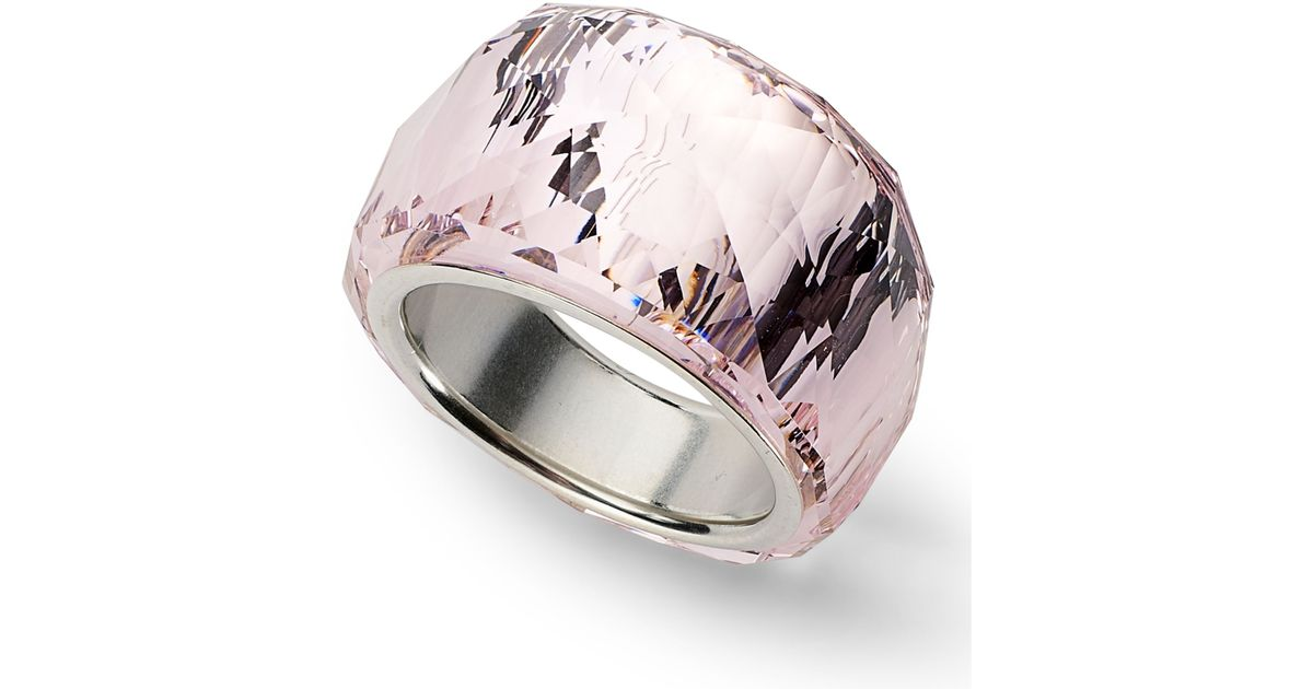 9cd016adc94656 Lyst Swarovski Silverplated Nirvana Pee Amethyst Crystal Ring