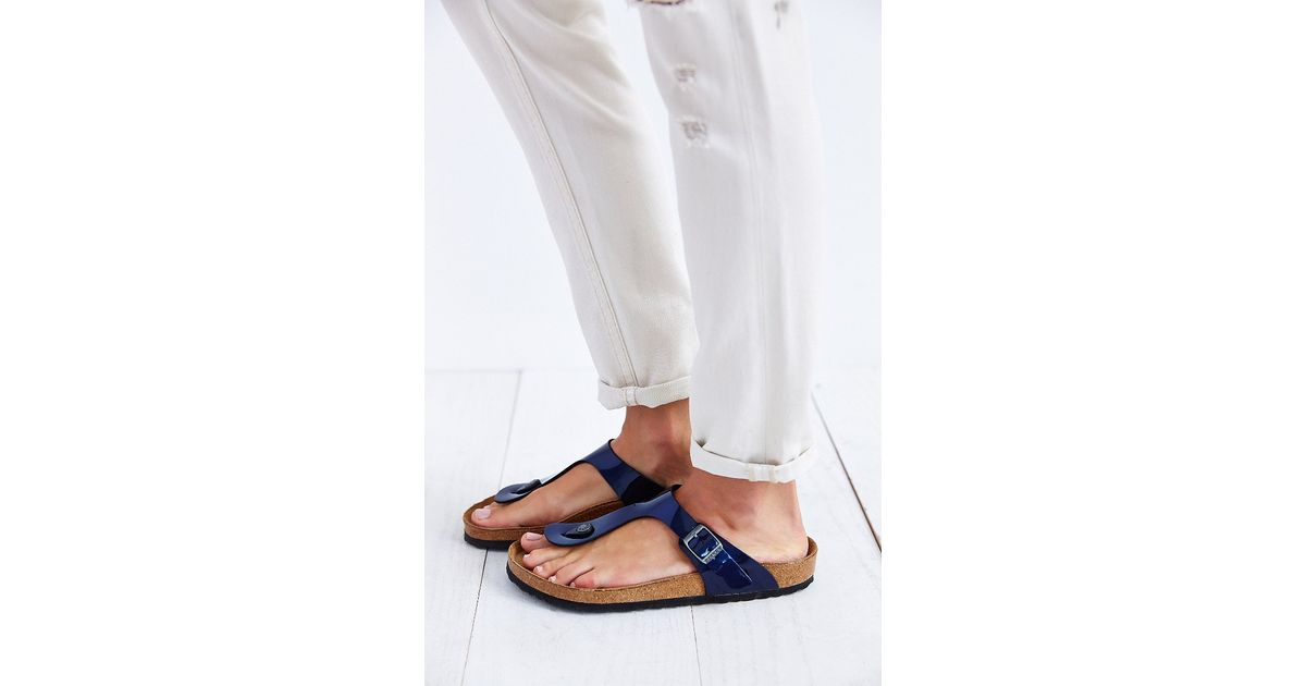 e5d5208e6 Lyst - Birkenstock Gizeh Thong Sandal in Blue