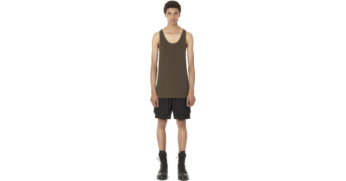 1af97242042889 Lyst - Balenciaga Textured Knit Tank Top in Green for Men