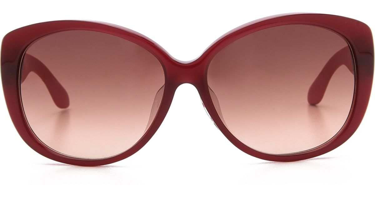 Marc Jacobs Red Sunglasses  marc by marc jacobs special fit oval sunglasses blue grey shaded