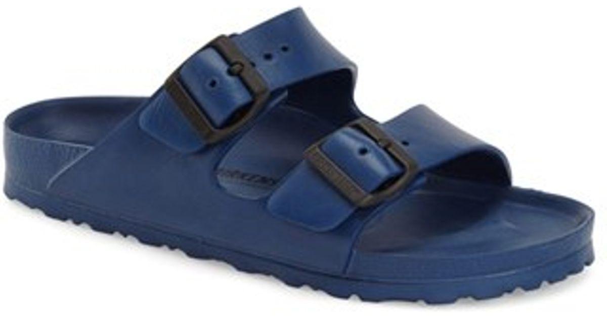 Birkenstock Essentials Arizona Slide Sandal In Blue Lyst