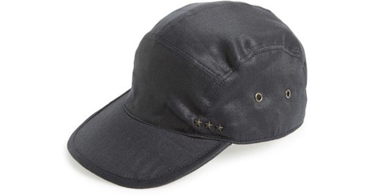 5be69418546 Lyst - John Varvatos Linen Five-panel Cap in Black for Men