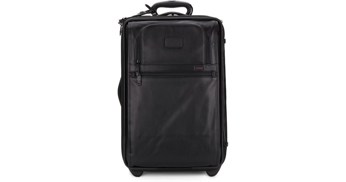 Tumi Leather Carry On In Black Lyst