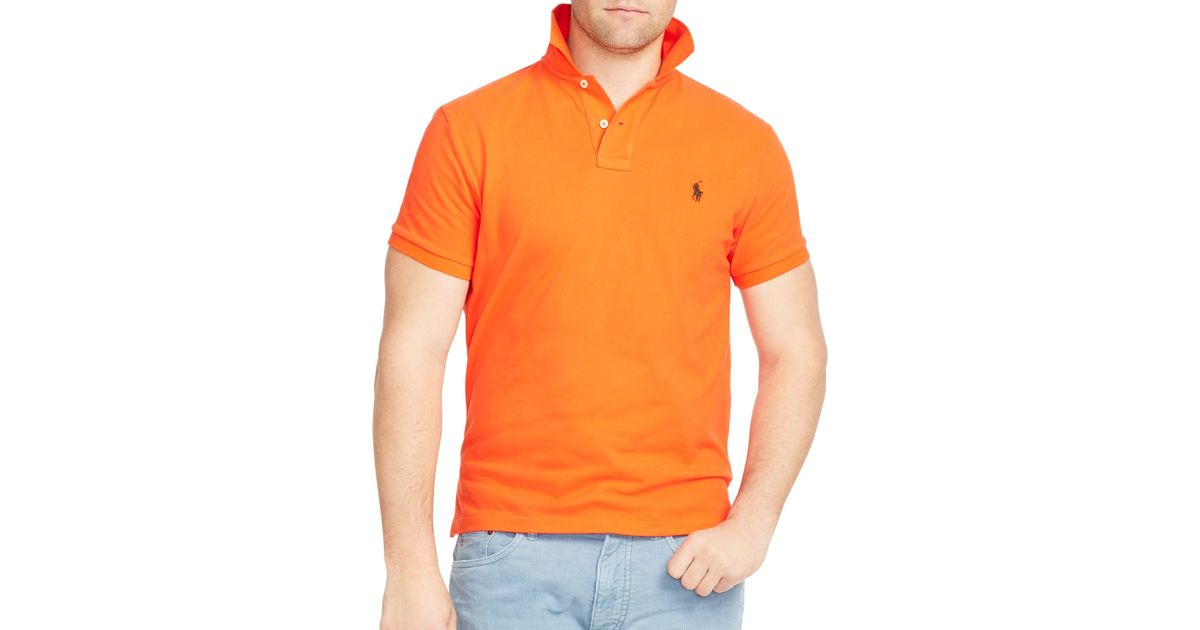 595df47e ... where can i buy lyst polo ralph lauren classic fit mesh polo in orange  for men