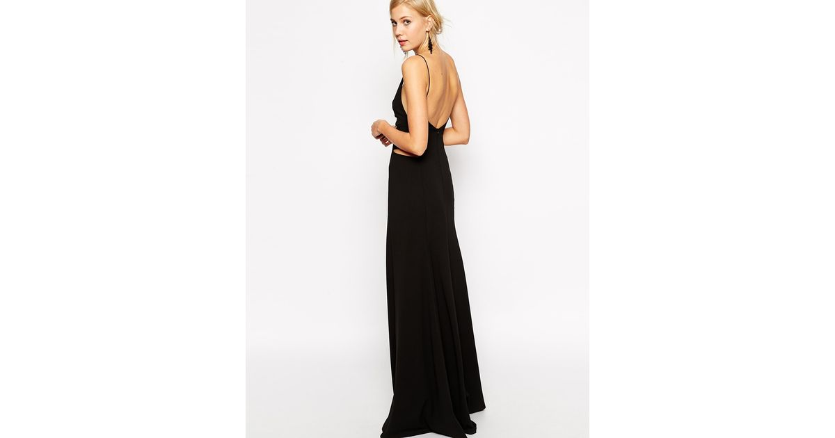 Lyst - Asos Premium Evening Gown in Black