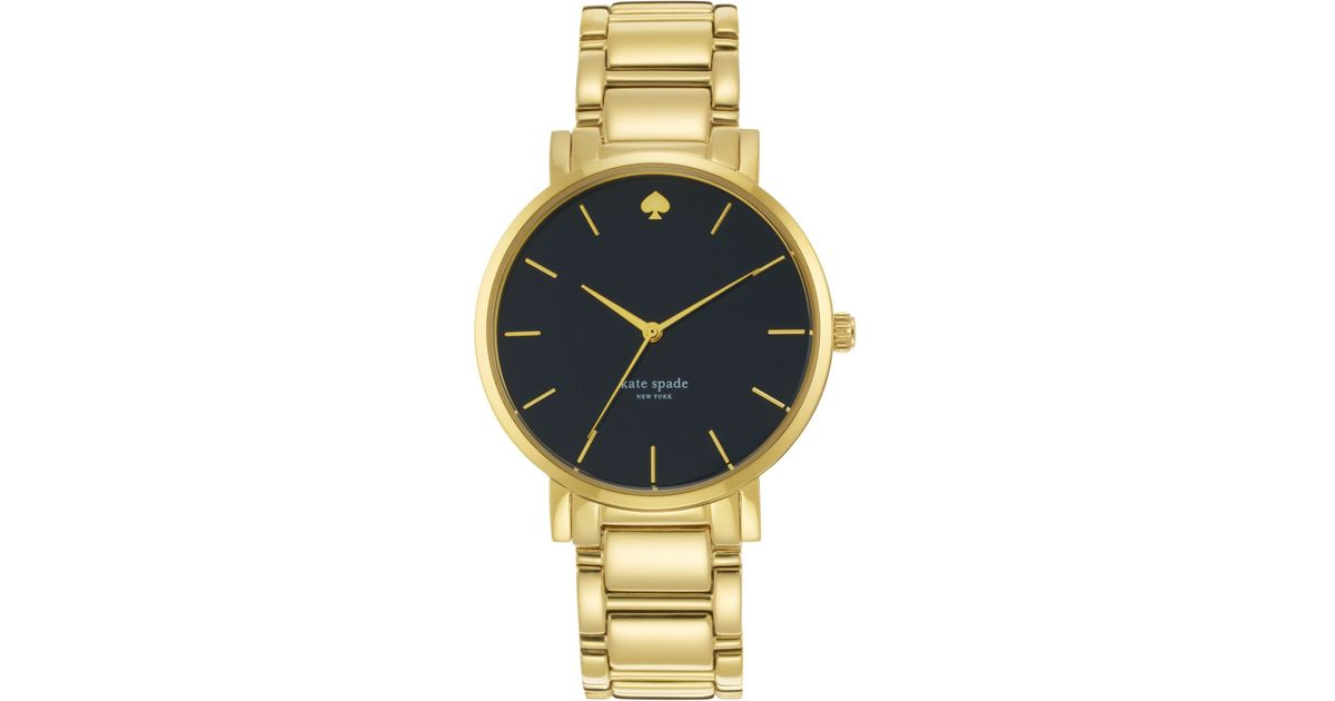 Lyst Kate Spade New York Women S Gramercy Grand Gold Tone Stainless Steel Bracelet Watch 38mm