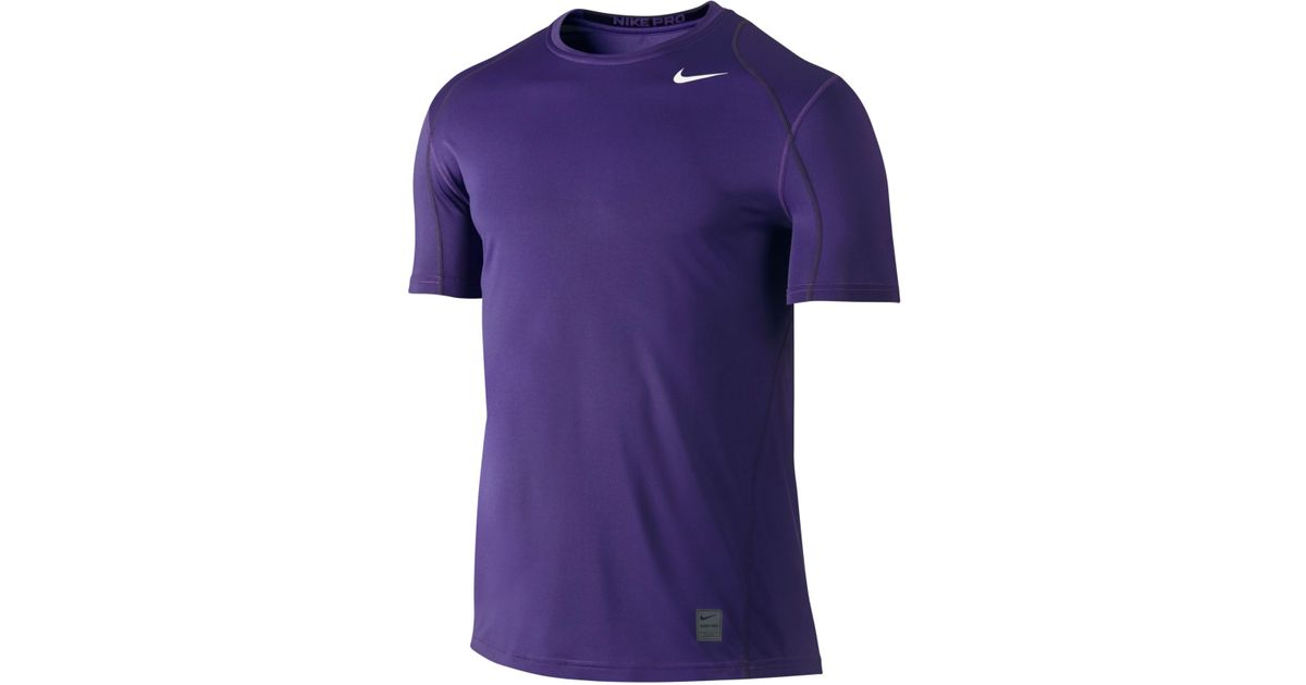 Nike Men 39 S Pro Cool Fitted Dri Fit Shirt In Purple For Men