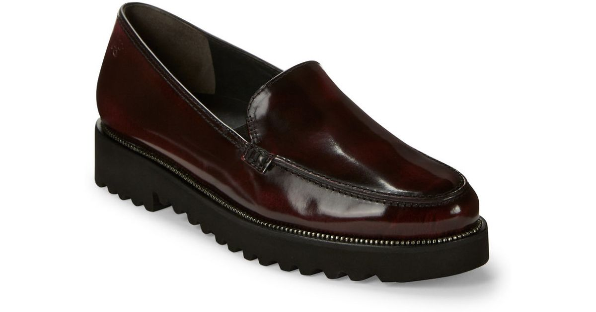 afd3cc2226a Paul Green Ariana Patent Leather Loafers in Purple - Lyst