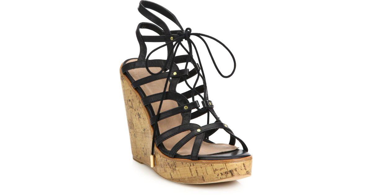 7b449dfedc1 Lyst - Joie  larissa  Platform Wedge Sandal in Black