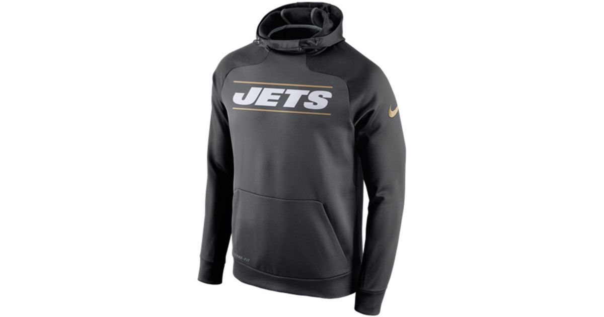71eed163586 Lyst - Nike Men s New York Jets Champ Drive Hyperspeed Hoodie in Gray for  Men