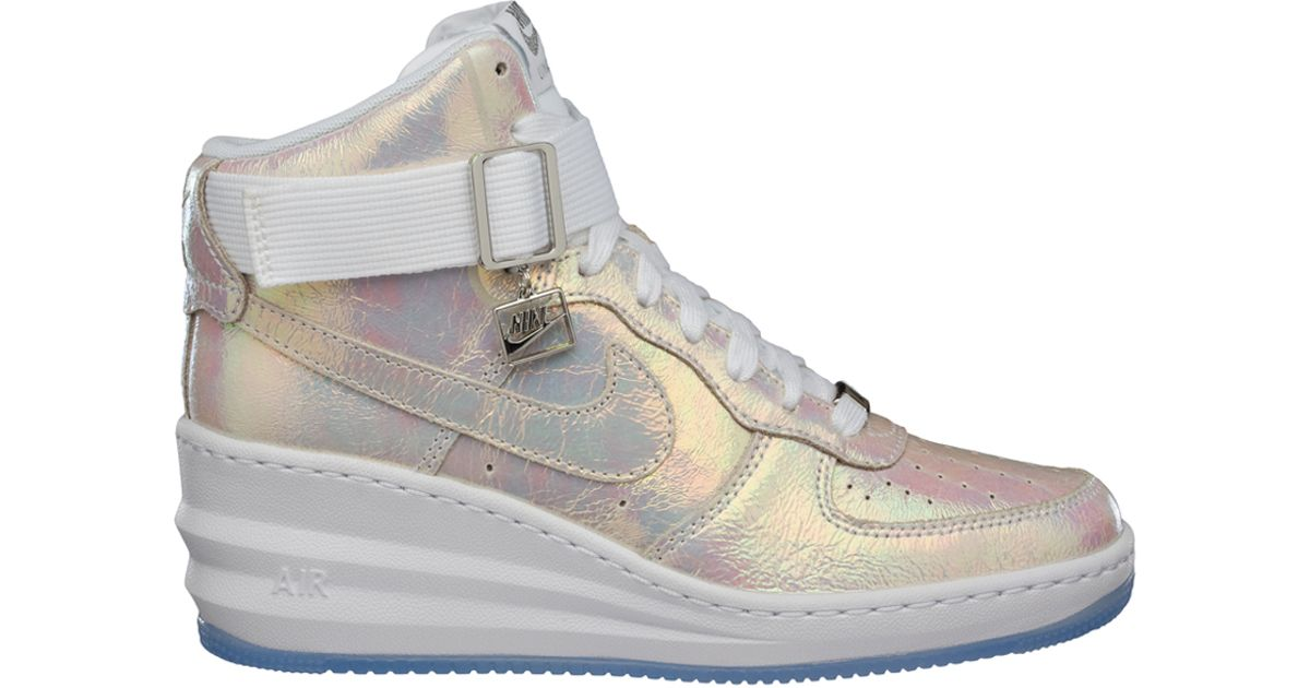 Lyst - Nike Lunar Force 1 Sky Hi Iridescent in White 313033558