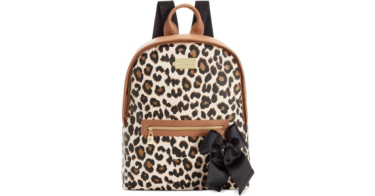 845ba3988000 Betsey Johnson Macy's Exclusive Leopard Backpack - Lyst