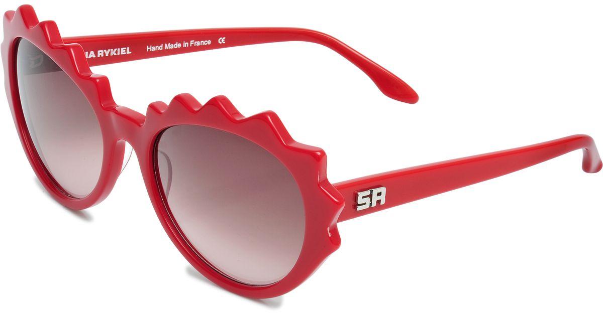 cdca3d14e7e60 Sonia Rykiel Laced Sunglasses in Pink - Lyst