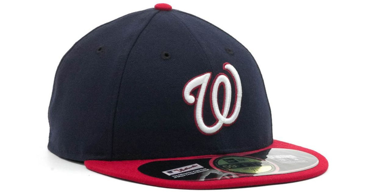 premium selection 52551 54fa7 ... shop lyst ktz washington nationals low crown ac performance 59fifty cap  in blue for men 959eb