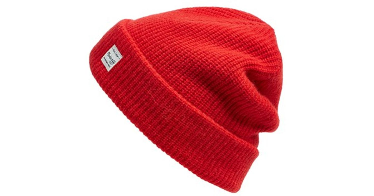 4cc57fe8b8a2c6 Madewell Slouchy Knit Beanie in Red - Lyst