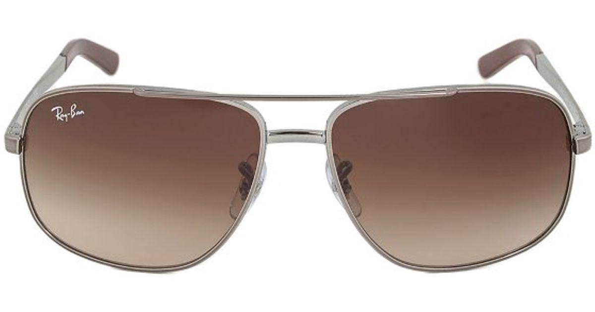 6e37869dd2 Ray-Ban Rb3456e 004 13 Pilot Sunglasses in Metallic - Lyst