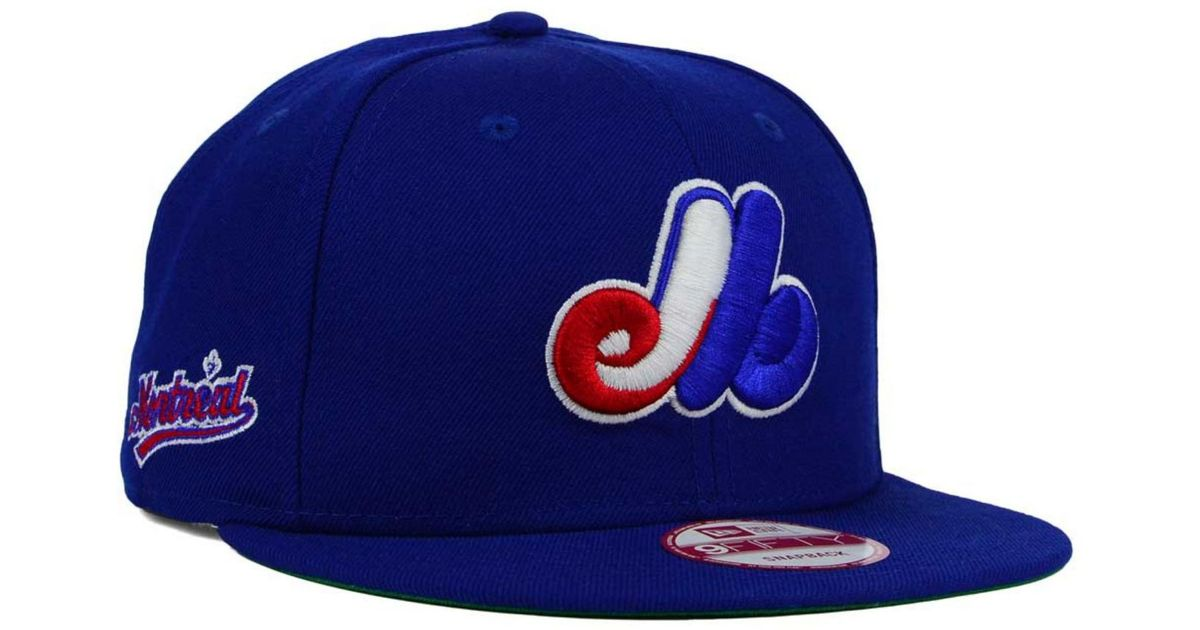 watch ba2fd c20ca purchase lyst ktz montreal expos 2 tone link cooperstown 9fifty snapback cap  in blue for men