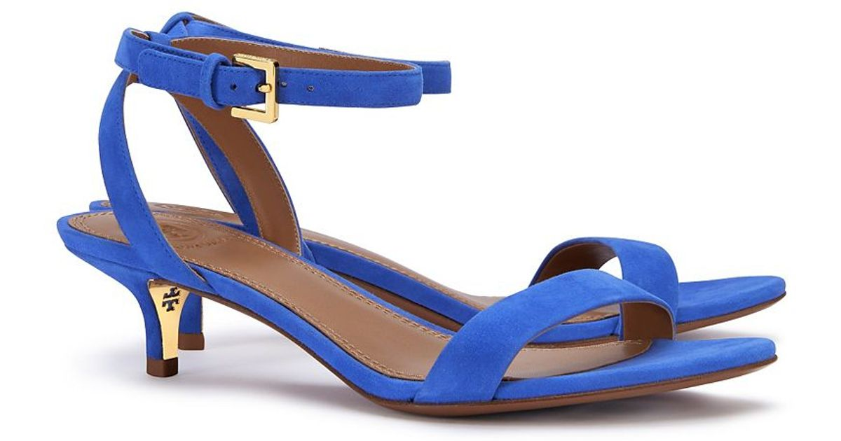 7055fc1e581 Lyst - Tory Burch Elana Mid-heel Sandal in Blue