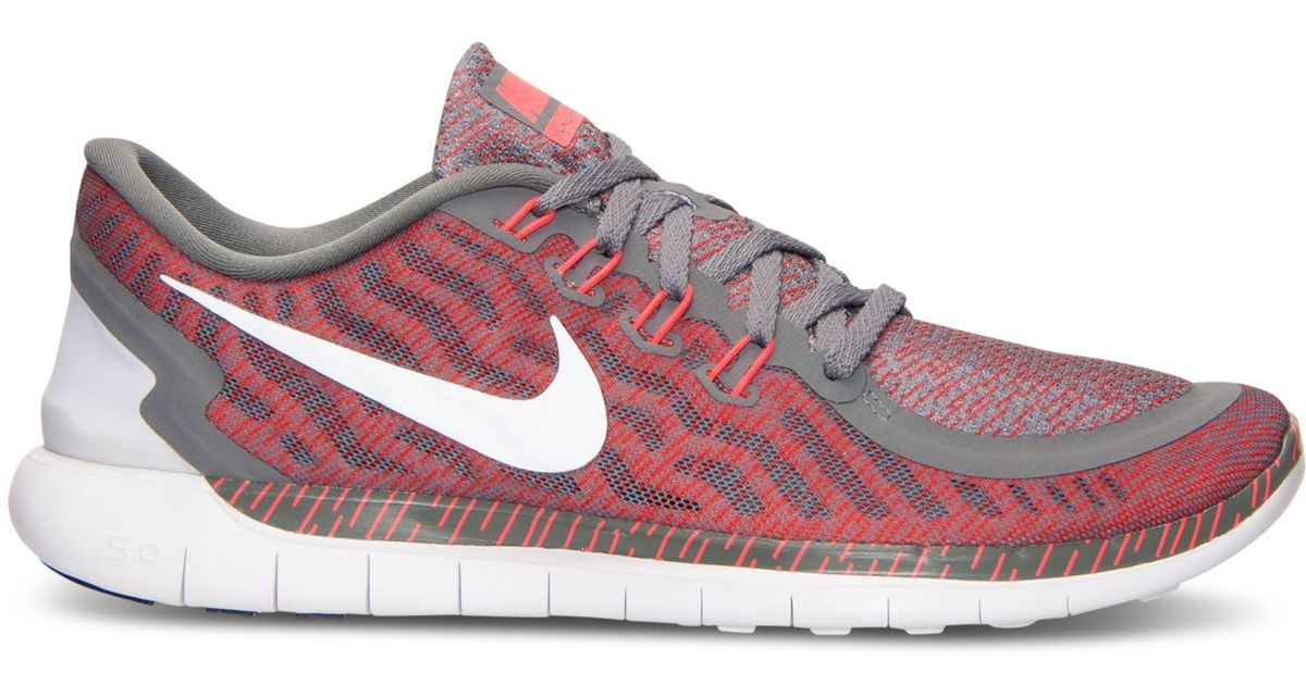 quality design 1640d e5903 Nike Men s Free 5.0 Print Running Sneakers From Finish Line in Red for Men  - Lyst