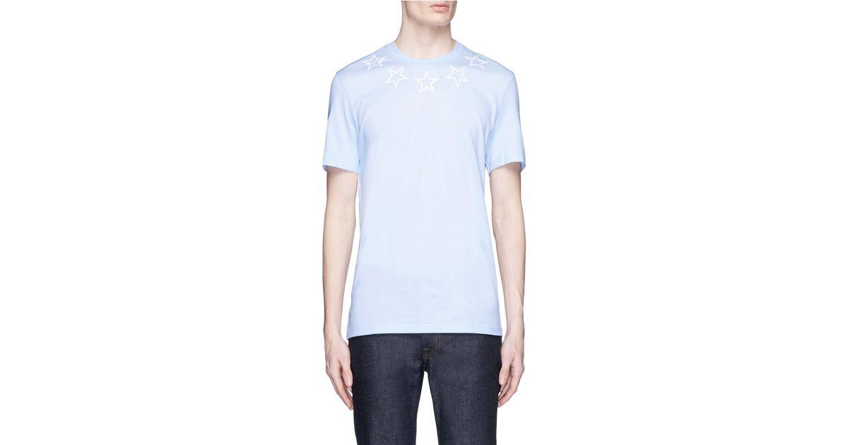 9a5dd9af8e4 Givenchy Star T Shirt Blue