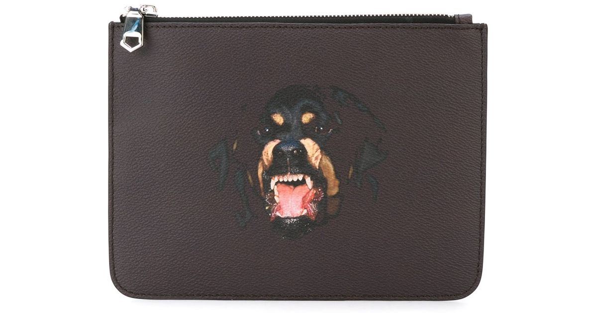 f935ccfe3c9c Lyst - Givenchy Rottweiler Print Clutch in Brown for Men