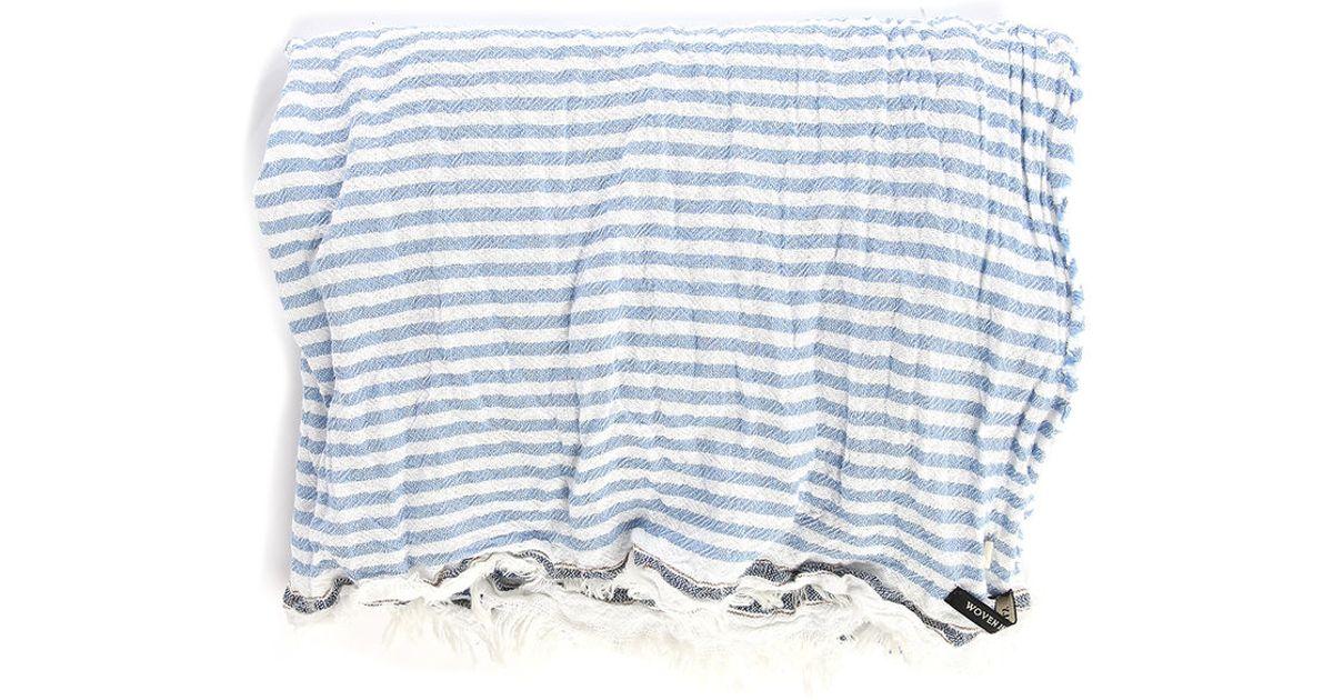 scotch soda blue multi stripes scarf in blue for lyst