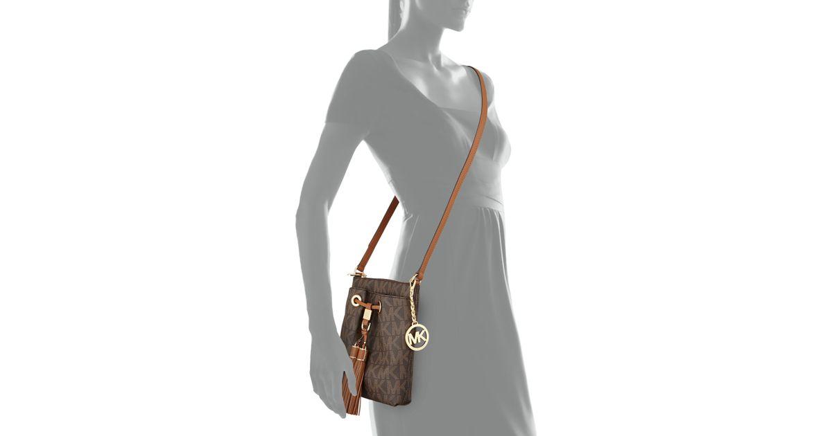 c92660c5944b Lyst - MICHAEL Michael Kors Camden Logo Crossbody Bag in Brown
