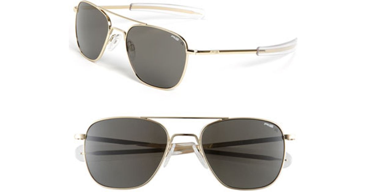 Randolph engineering 55mm Aviator Sunglasses in Gold for ...