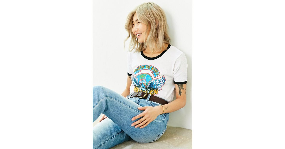 Clothes Ringer 2015 ~ Urban outfitters van halen world tour ringer tee in white